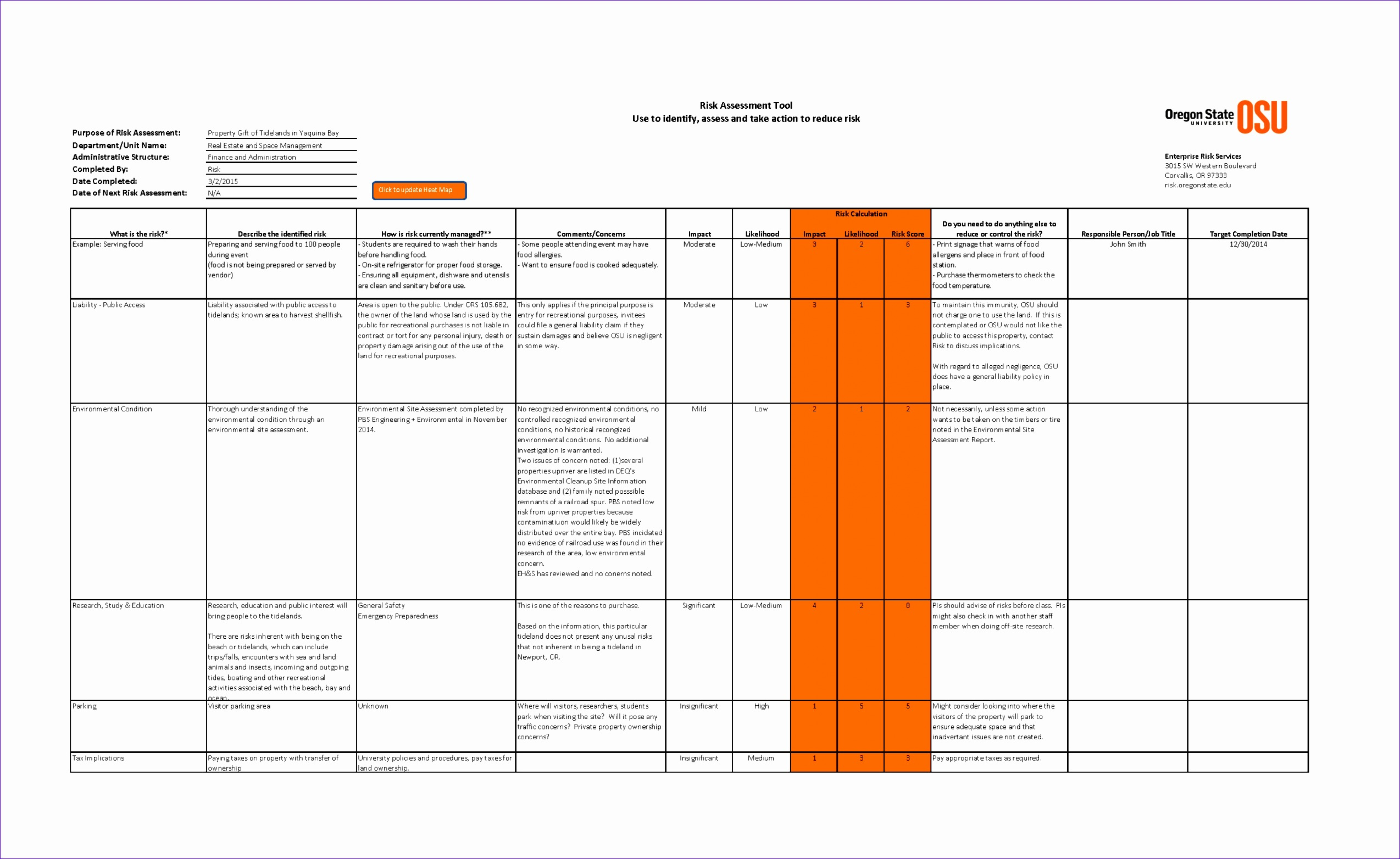 risk assessment template excel riskassessmenttool page 1 hgcoZX