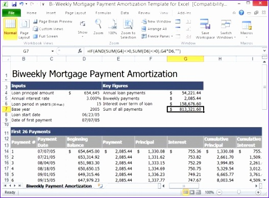 Mortgage Excel Template