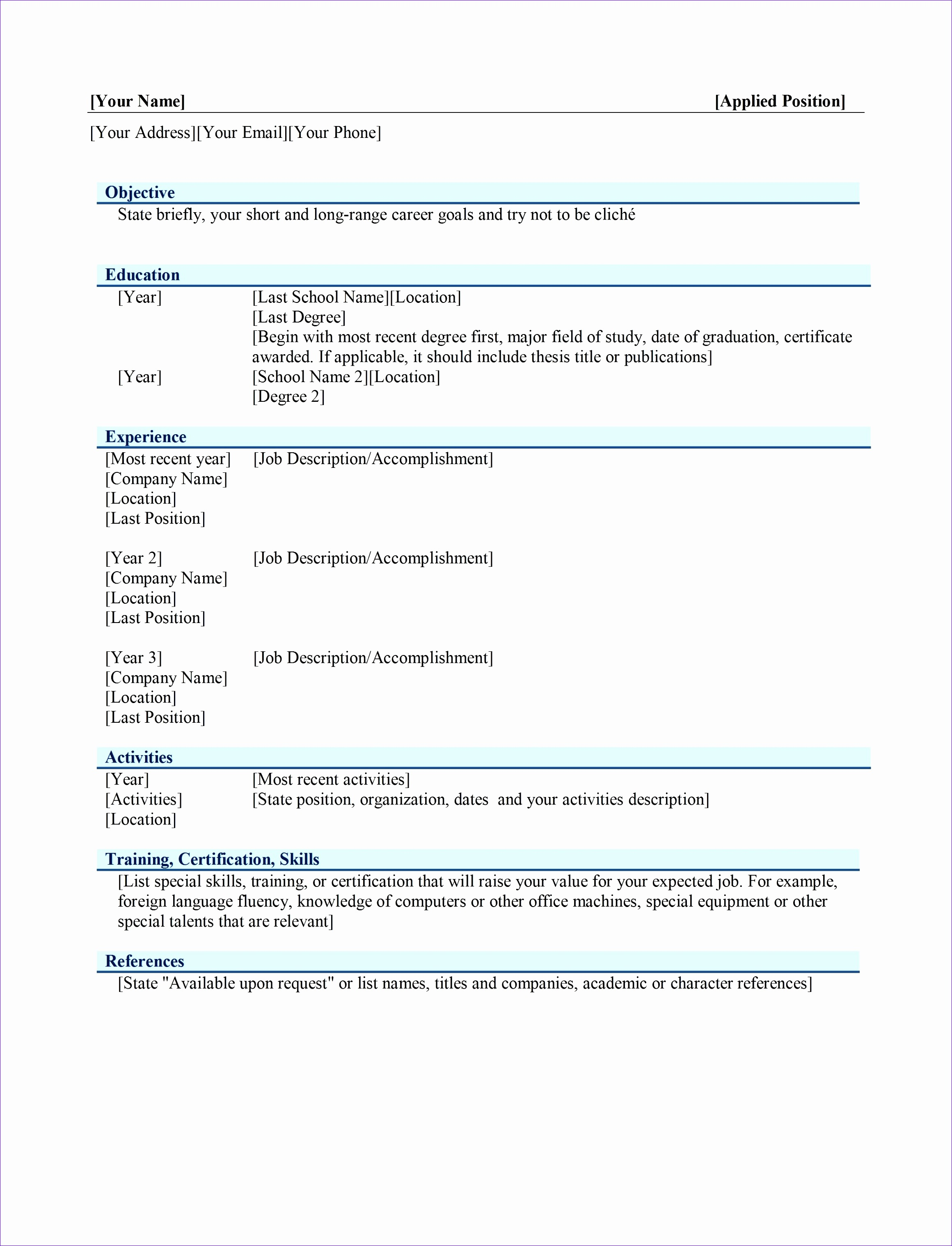 free resume templet 275 free microsoft word resume templates within 85 charming free microsoft resume templates