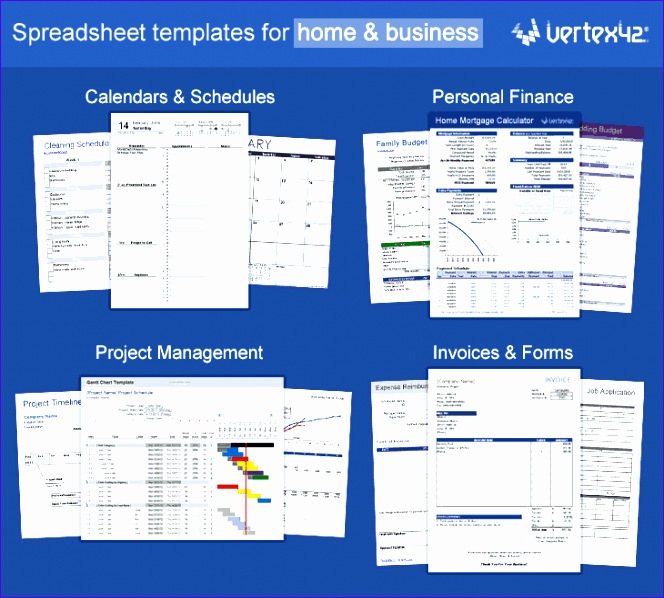 excel templates by vertex42