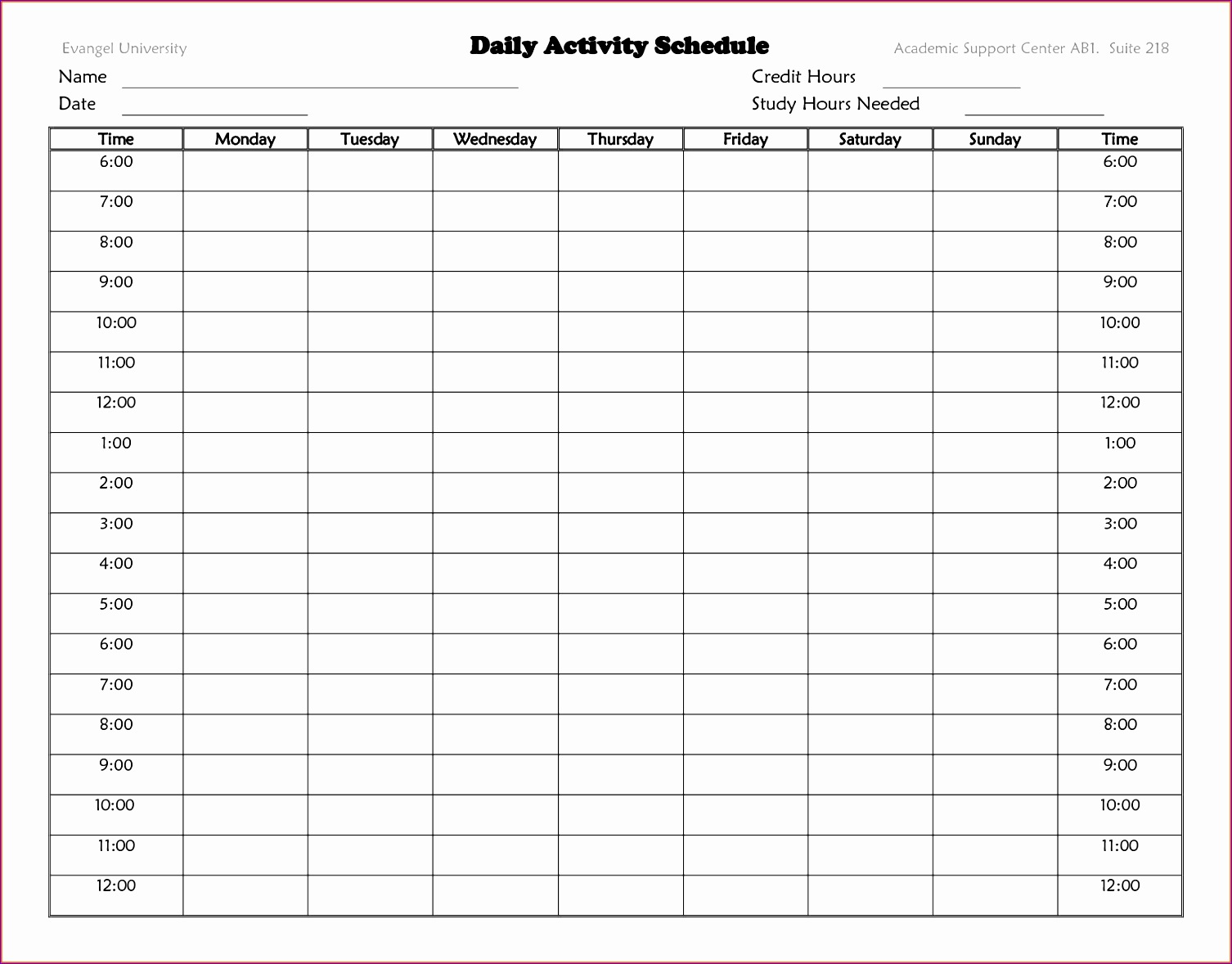 10 microsoft excel weekly schedule template - exceltemplates