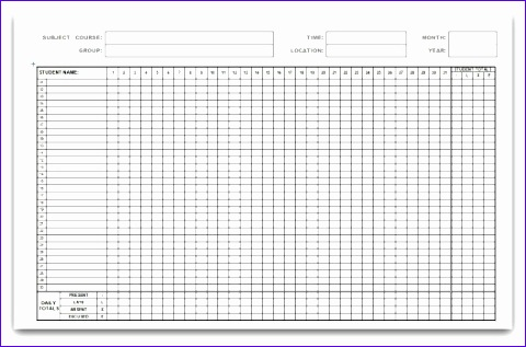 att word gen monthly attendance form1