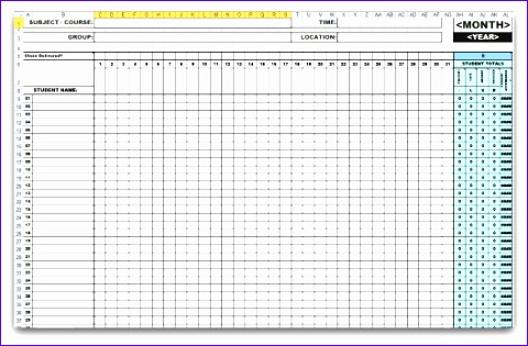att excel gen monthly attendance template1