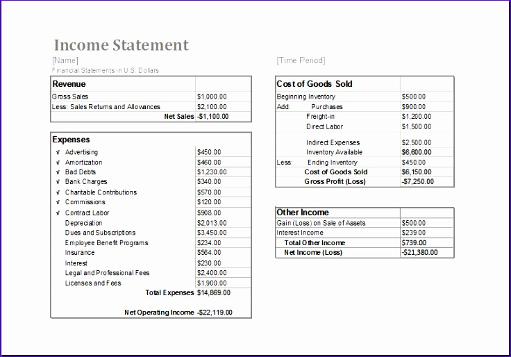 Monthly Billing Invoice Statement Kgea3 New Ms Excel In E Statement Editable Printable Template