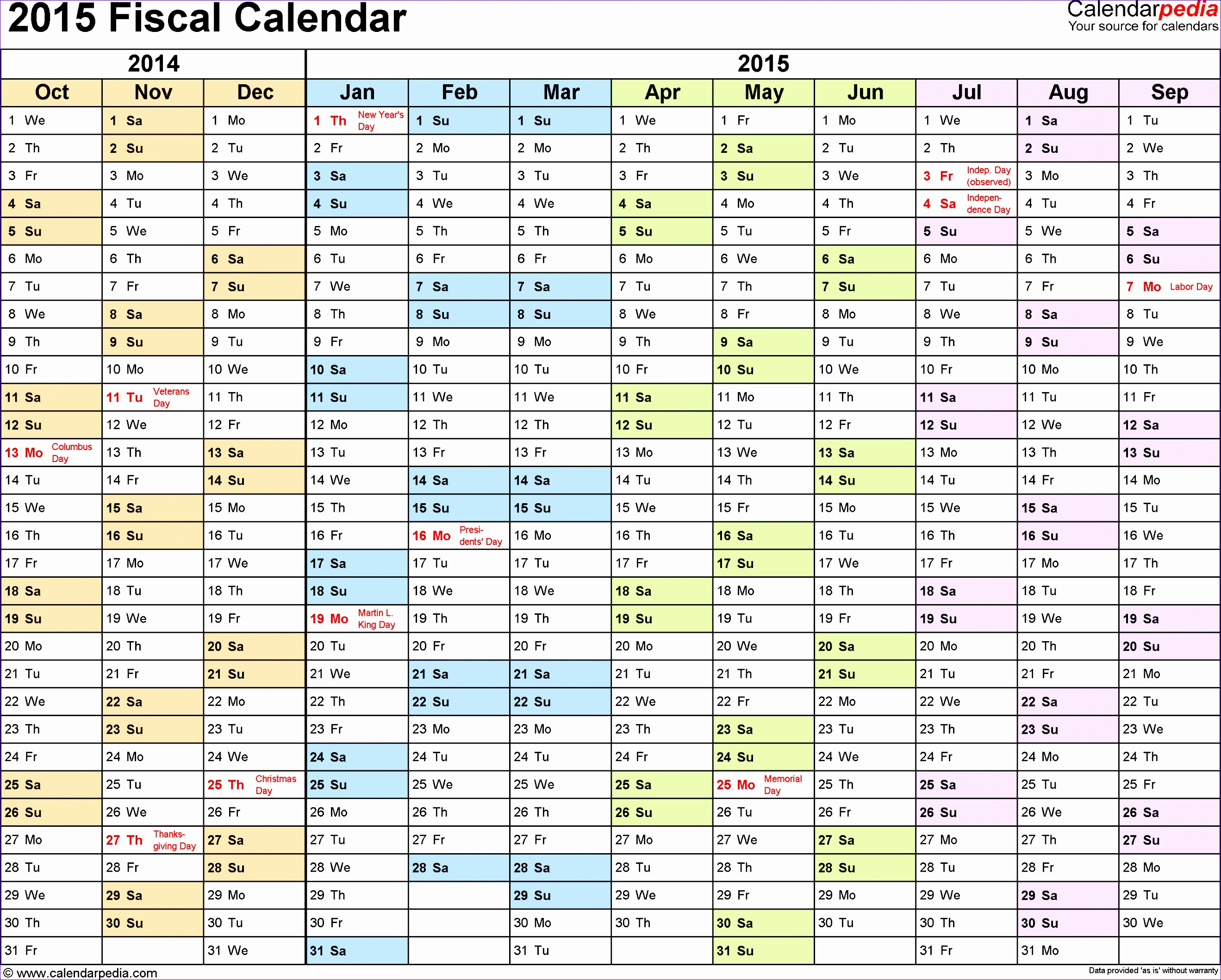 Monthly Budget Template Excel 2010 T7glb Lovely Fiscal Calendars 2015 as Free Printable Excel Templates