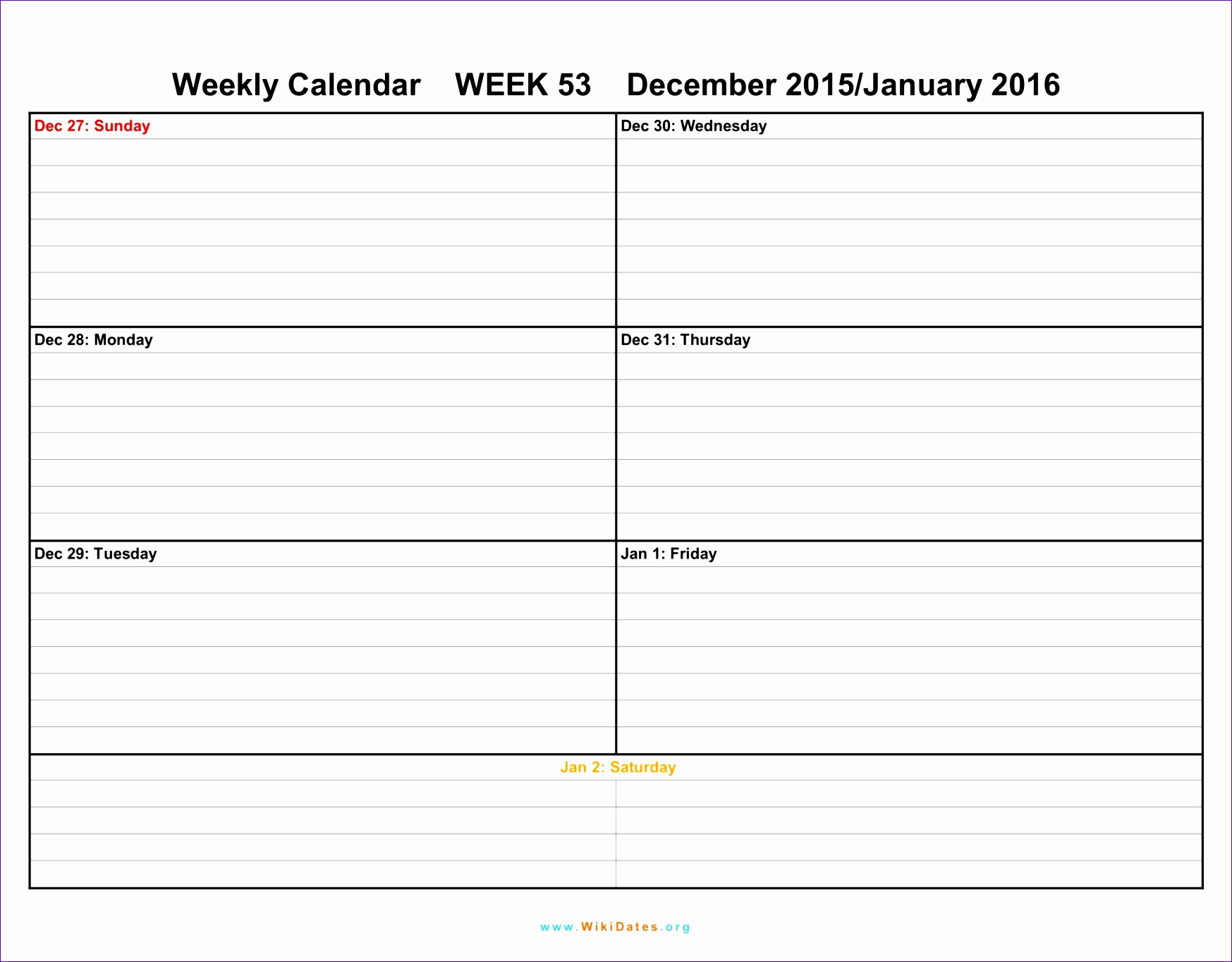 pdf printable weekly calendar template july