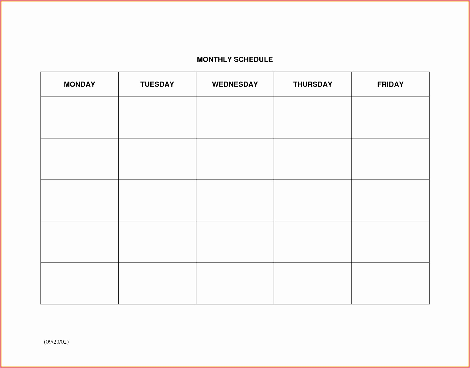 monthly scheduling template