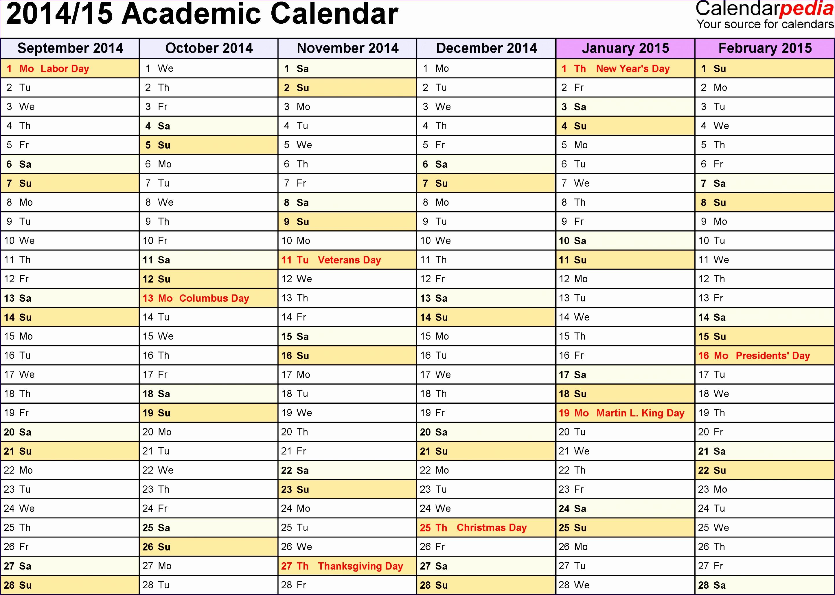 2014 2015 academic calendar 2p