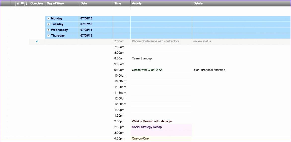 7 WeeklyScheduleTemplatesSmartsheet EN