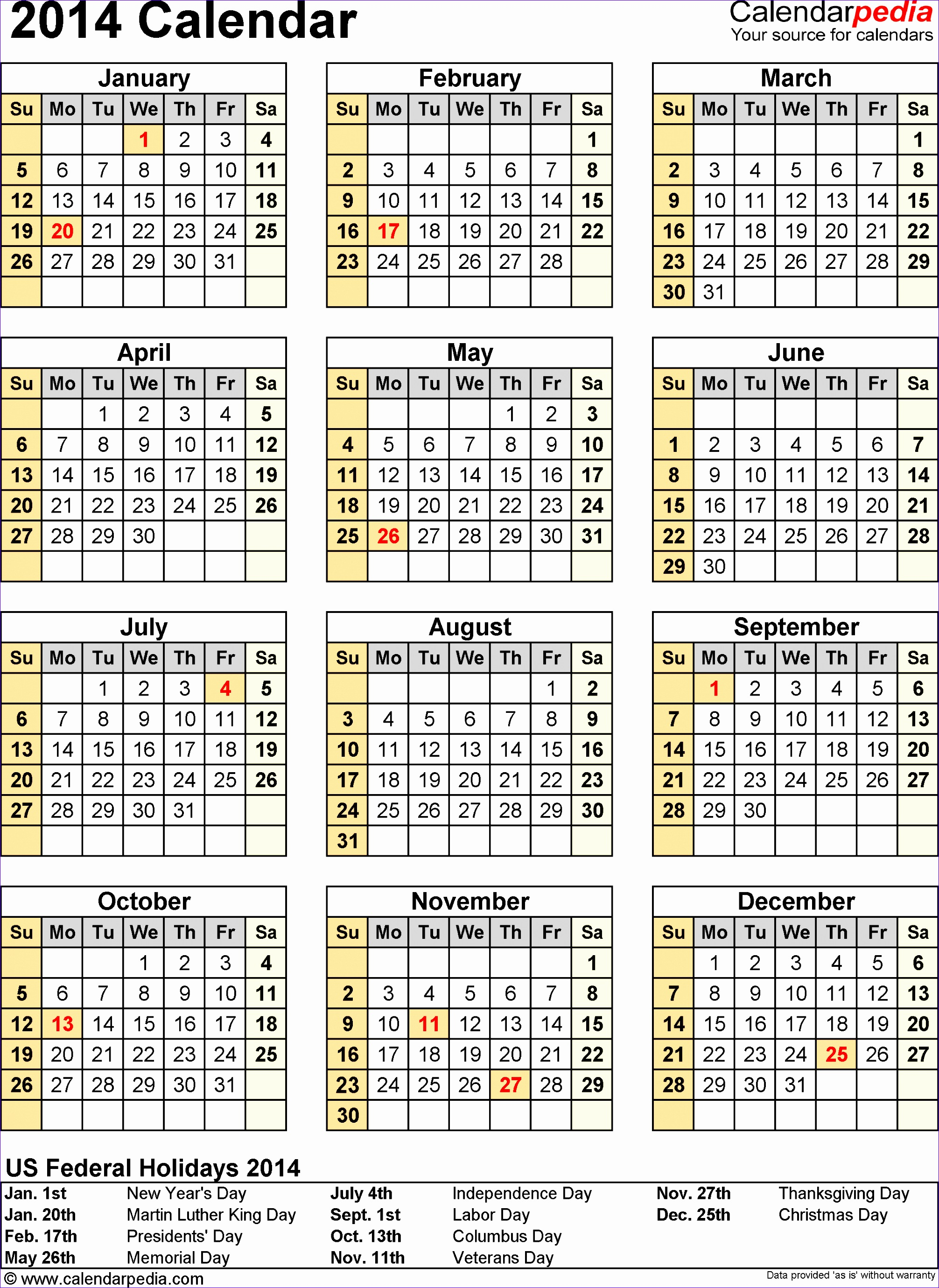 9 ms excel calendar template 2014 exceltemplates for Fillable calendar template 2014