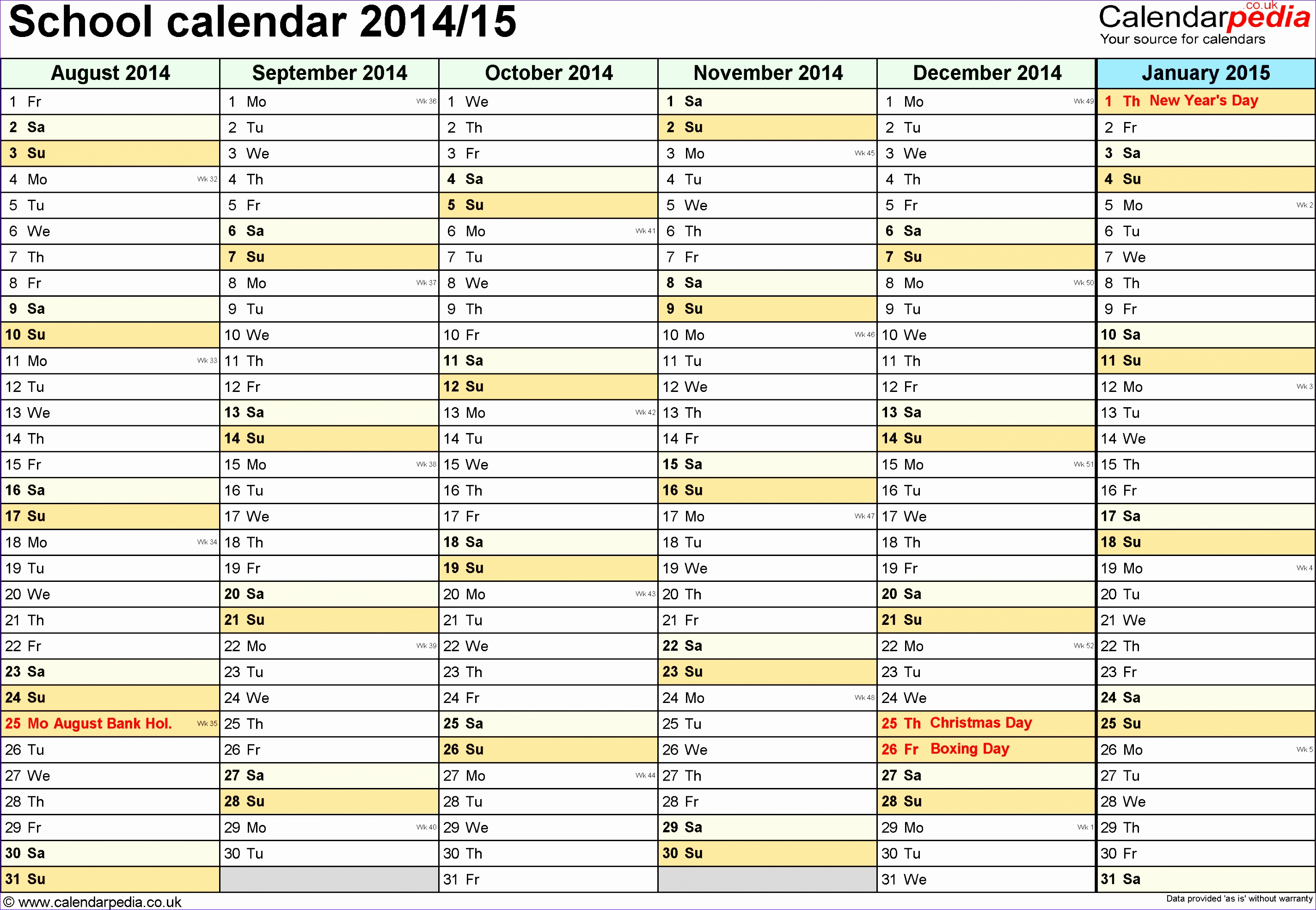 Ms Excel Calendar Template 2014 W3kia Awesome School Calendars 2014 2015 as Free Printable Excel Templates