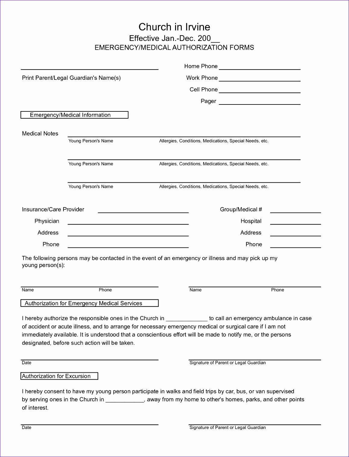 PDF Medical Document Template