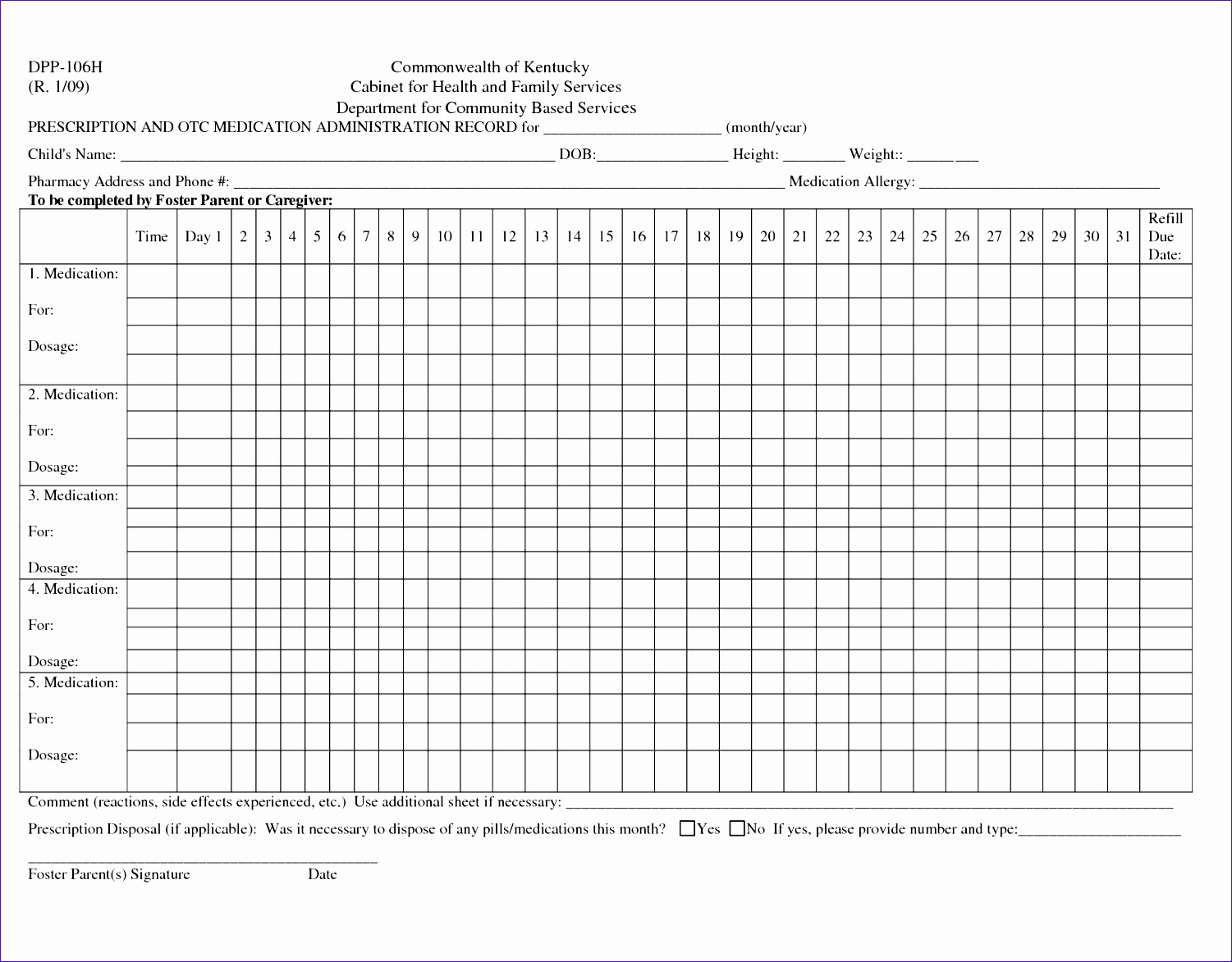 Ms Excel Patient Medication Log Template Wjzas New Medication Record Sheet