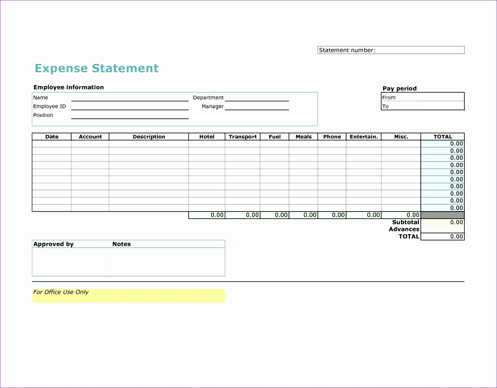 worker and employee form blank Template For Expense Report worker and employee expense report template form basic helloalive basic Template For Expense