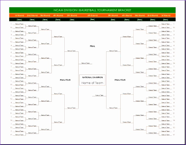 NCAA double elimination bracket