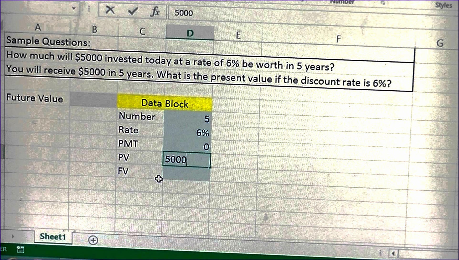 Future Value Calculator Definitions