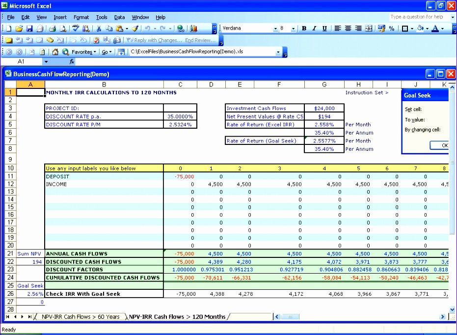 Npv Irr Excel Template Iuesl Unique Excel Financial Templates Net Present Value Npv