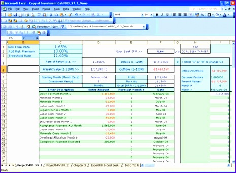 Npv Irr Excel Template Nffls Beautiful Present Value Excel Template Investment Calc solutions Irr Npv