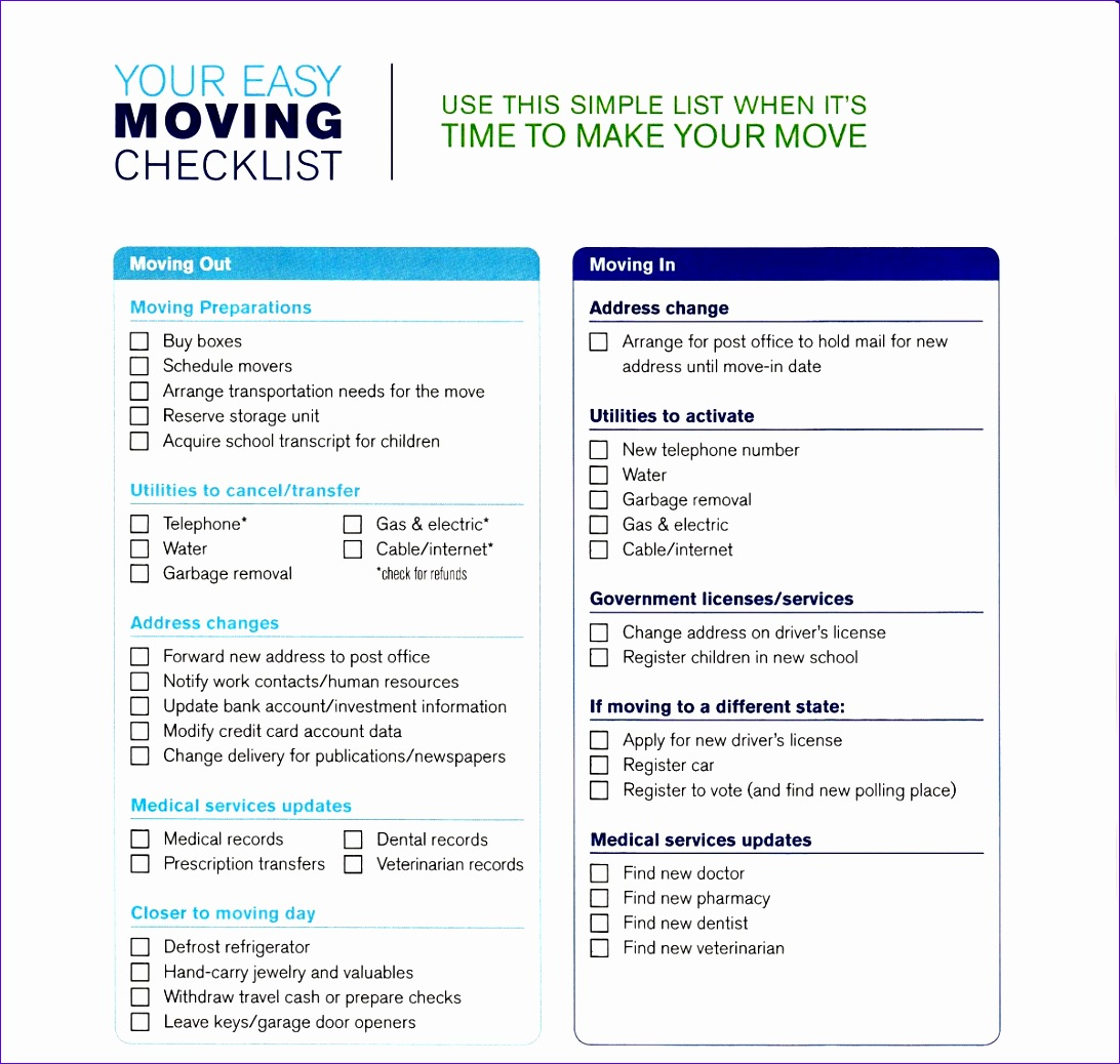 moving schedule template inspirational great relocation checklist