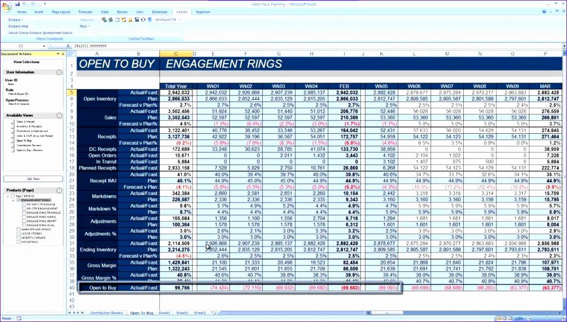 Open To Buy Excel Template Hfjlq Beautiful Open To Buy Demo