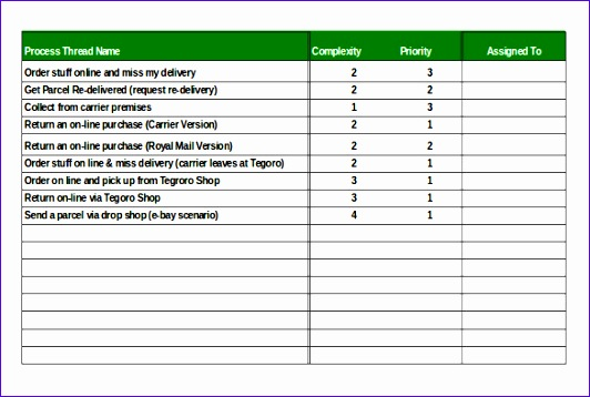 Analysis Order Tracking Template Excel Format