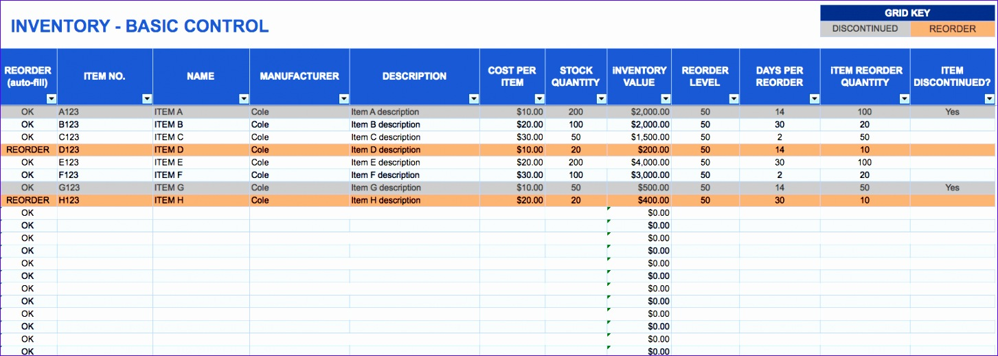 order tracking spreadsheet template free