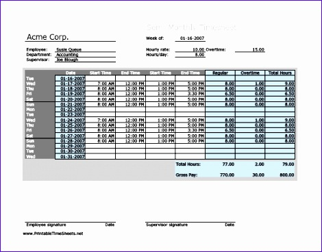 Overtime Calculator Excel Template Cleah Best Of Semi Monthly