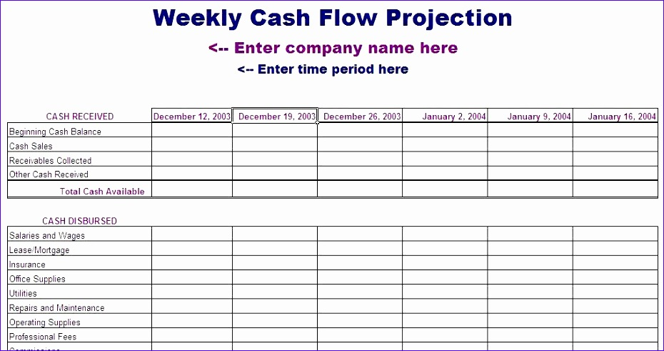 Personal Cash Flow Statement Template Image collections - Template ...
