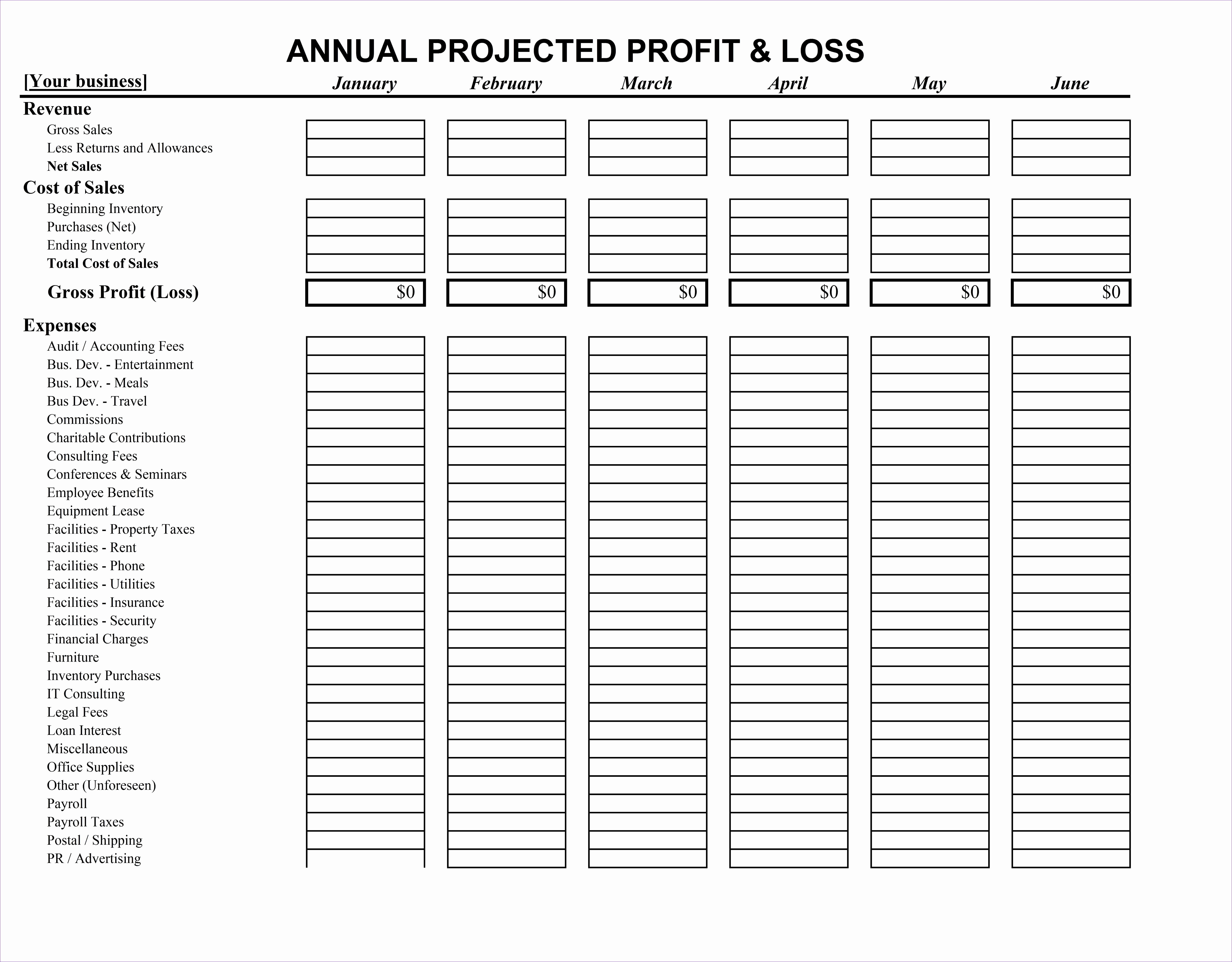 loan statement template