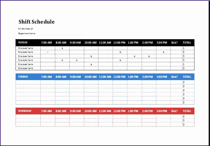 Employee shift schedule 2