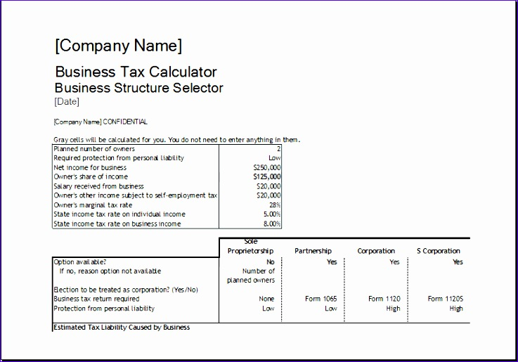 Corportate tax calculator 1