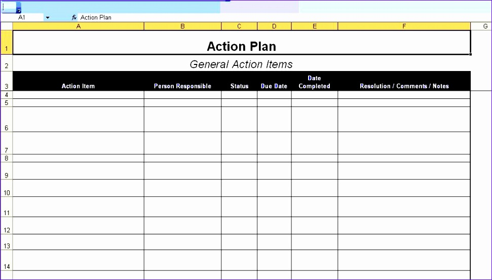 ExcelTemplates   Microsoft Excel Worksheets And Format Templates  Action Plan Template Word