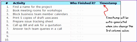 project tracking todo list template