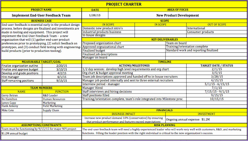 Project Deliverables Template Excel Nkixh Beautiful Project Charter - Project deliverables template
