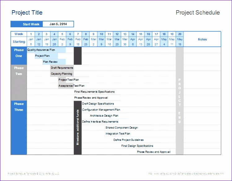 project schedule template example