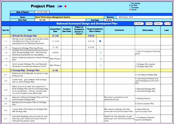 10 project outline template excel