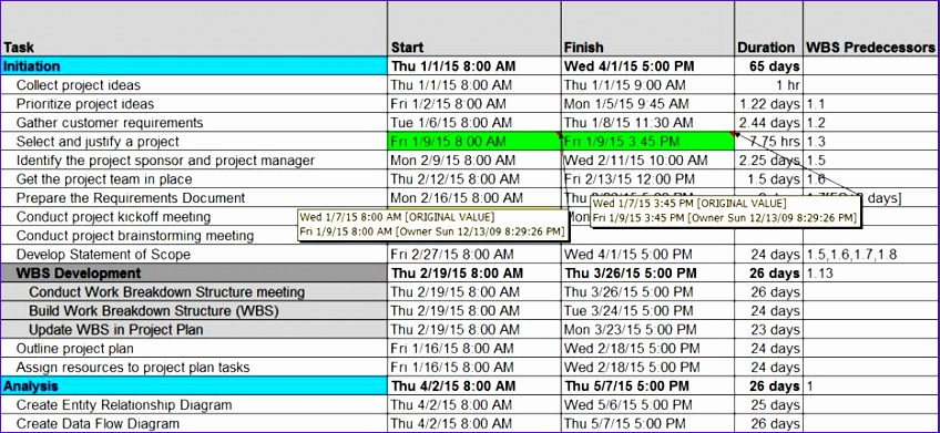 excel project schedule template image017 Jqshjw