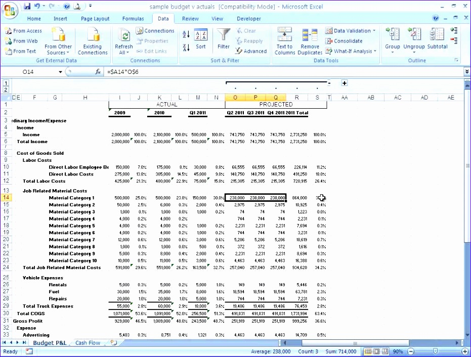 Projected Income Statement Template Excel Pcafh Unique How to Build A Basic Financial Projection Business Finance