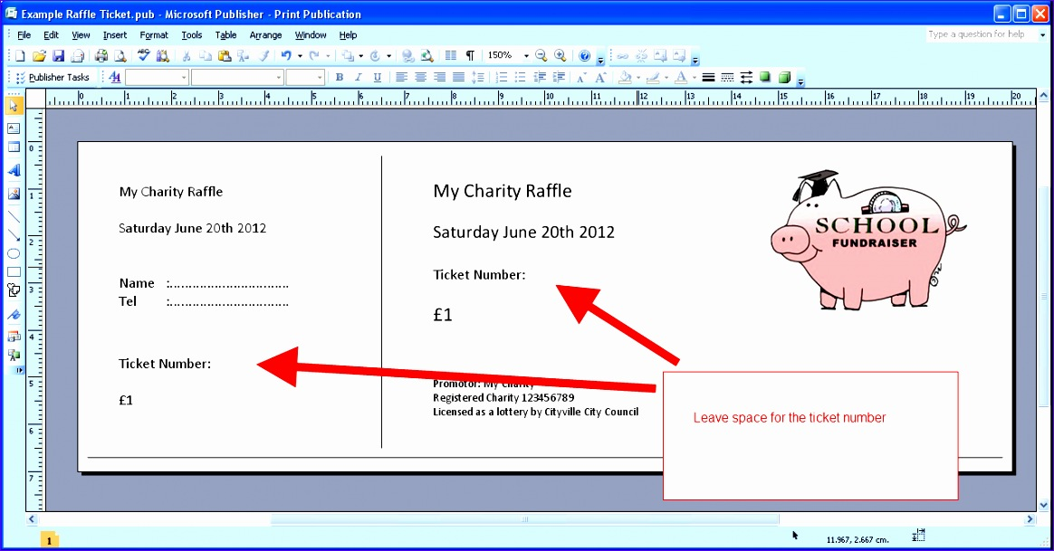 Raffle Ticket Template Excel Dbrk2 Unique Printable Numbered Raffle ...