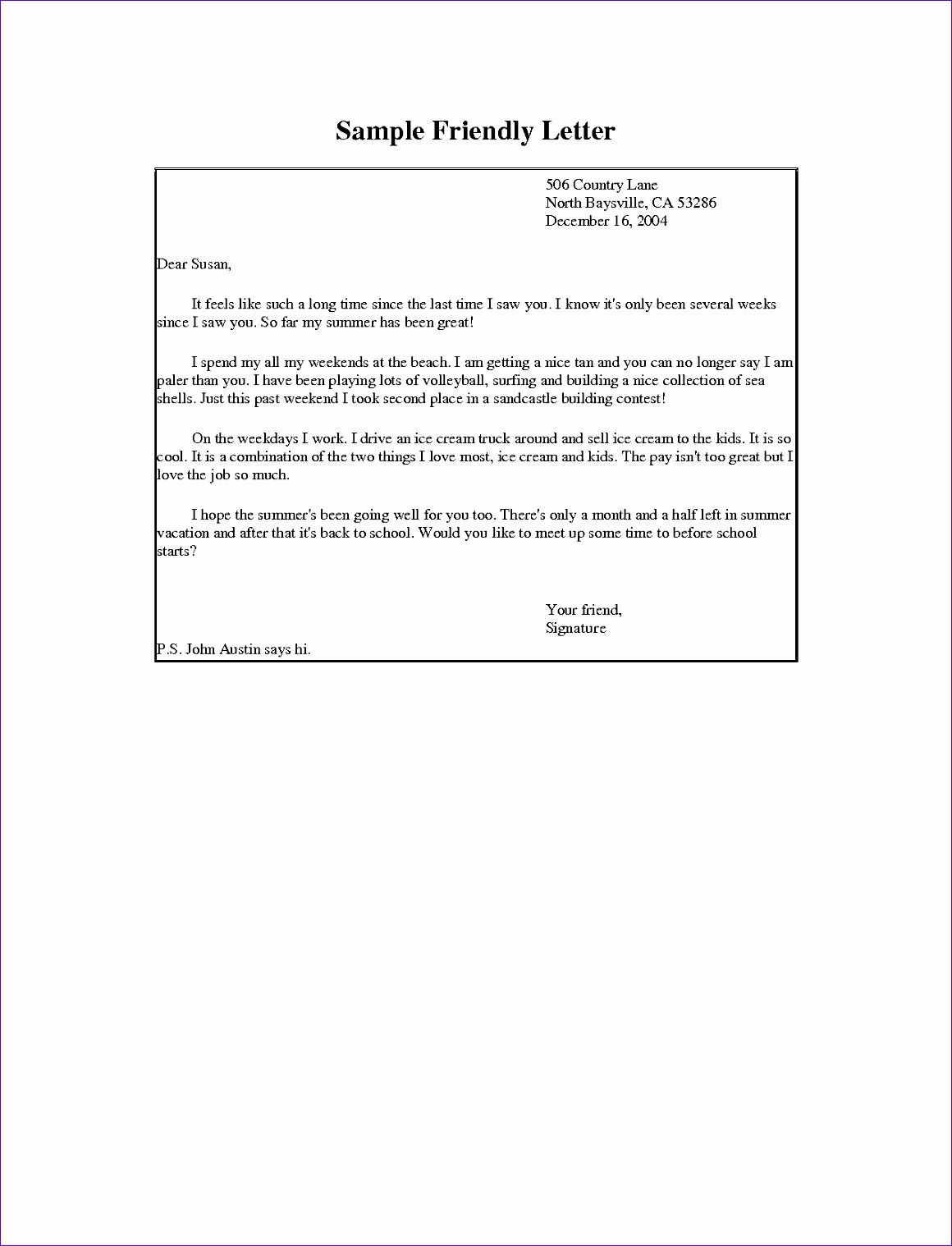 formal letter format envelope resignation letter samples templates intended for friendly letter writing sample