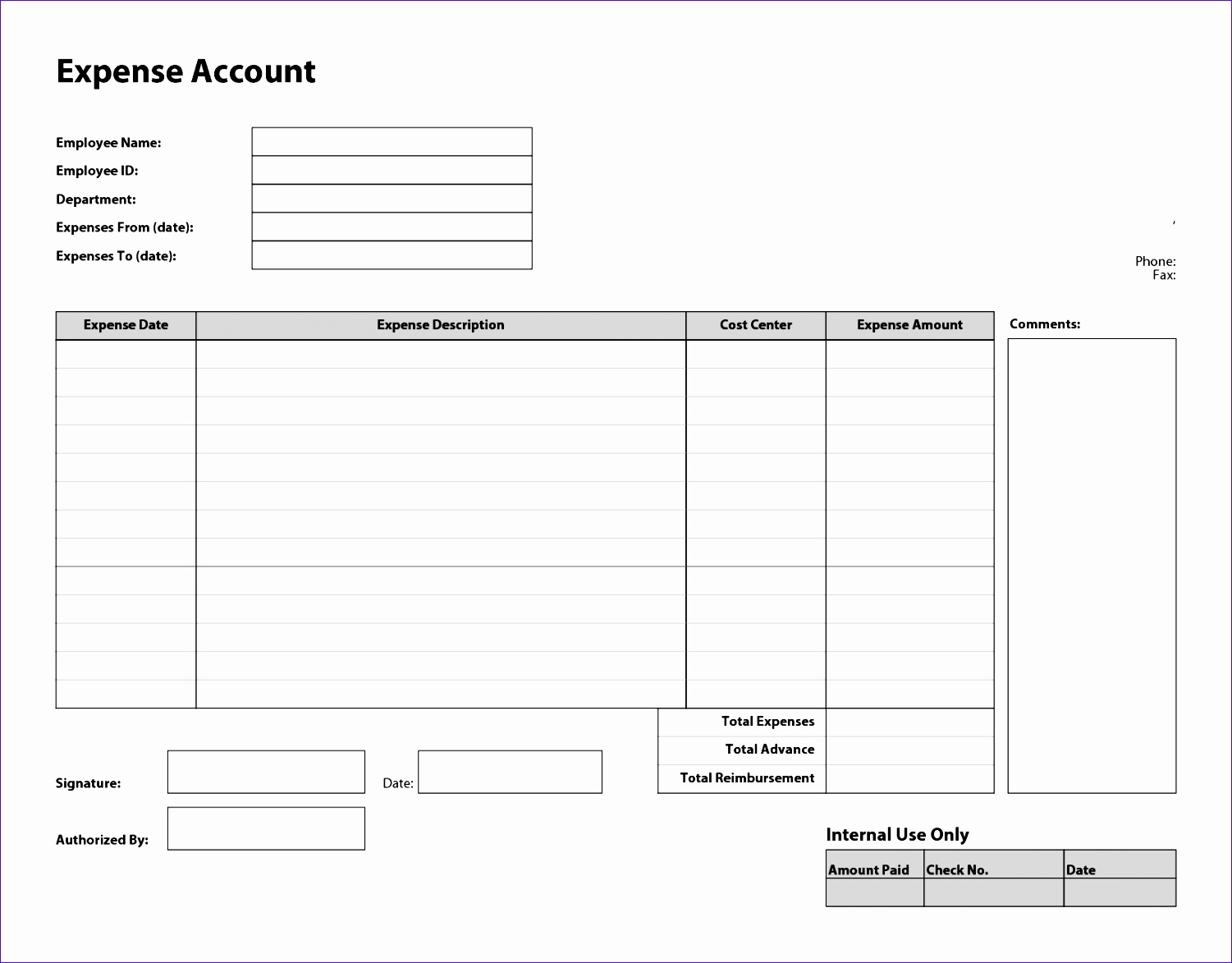 business templates easy to use expense report template and form for your pany