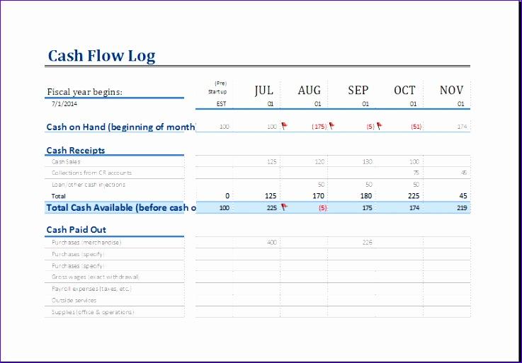 cash flow log 1