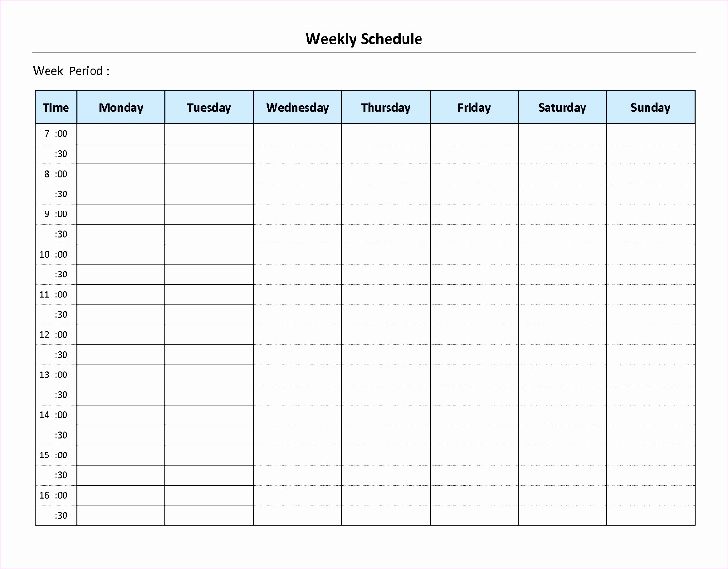 delivery schedule template