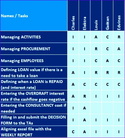 matrix summary project manager s decision Functional managers upper management the project manager if you're the project manager, you're responsible for all aspects of the project being responsible doesn't mean you have to do the whole project yourself, but you do have to see that every activity is completed satisfactorily.