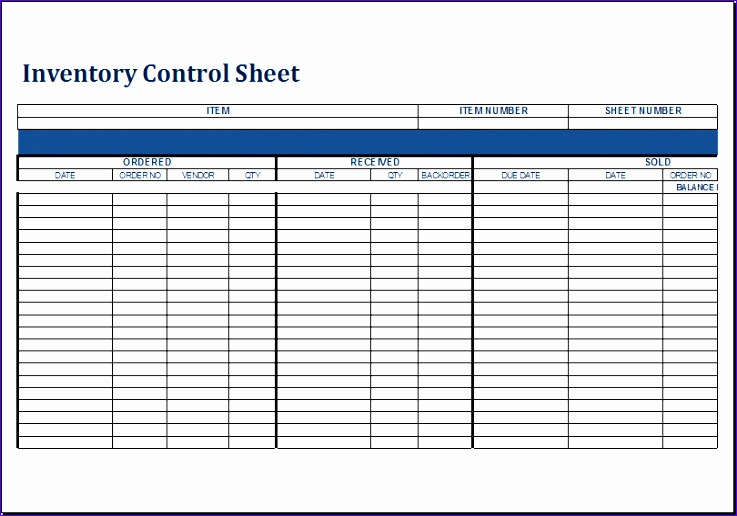 Restaurant Inventory Rkzdl Inspirational Inventory Control Sheet Template for Excel