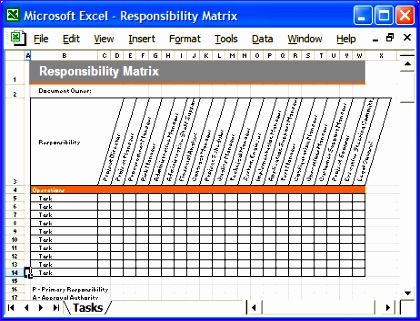Sample RACI Project Management Template