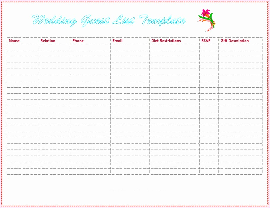 dotxes free wedding guest list template 56af695d5f9b58b7d0187dc8