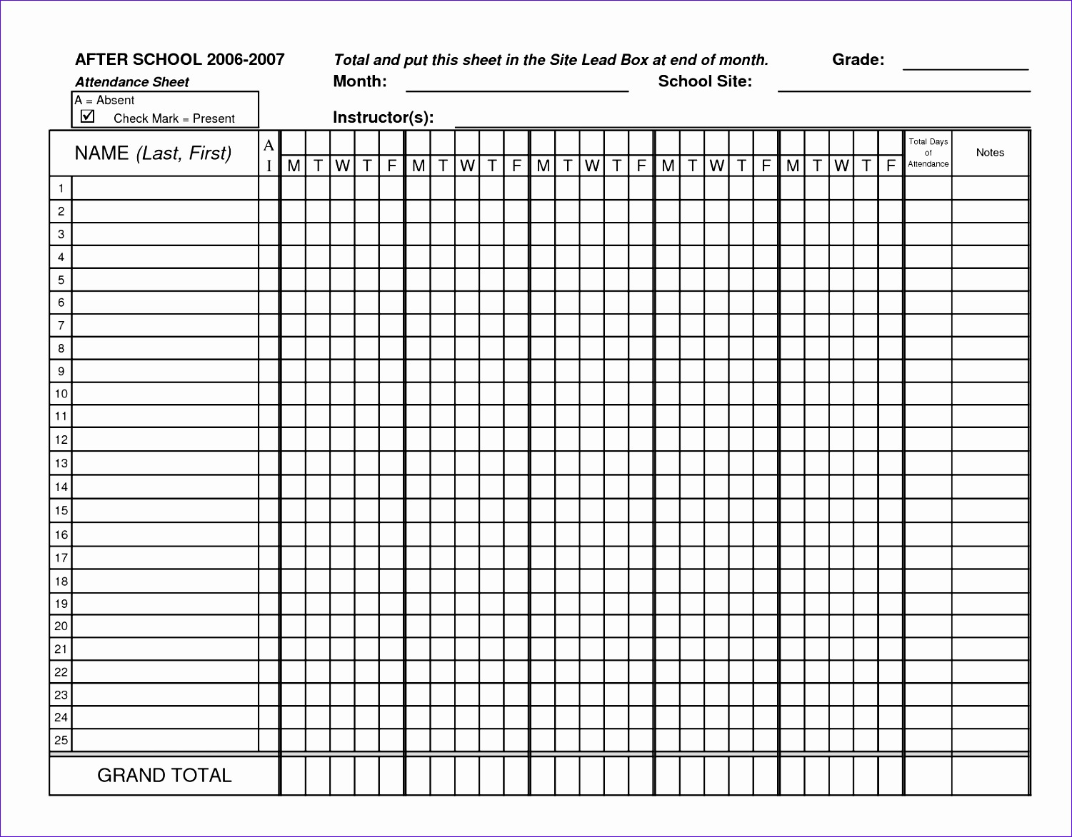 Run Sheet Template Excel Fwzwf Best Of Classroom attendance Sheets