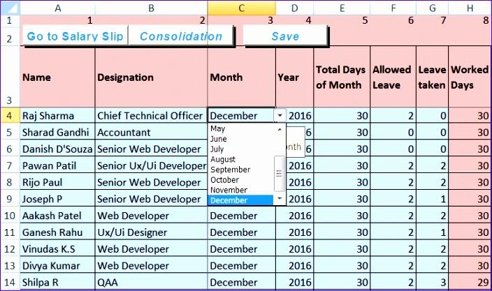 Salary Sheet 1