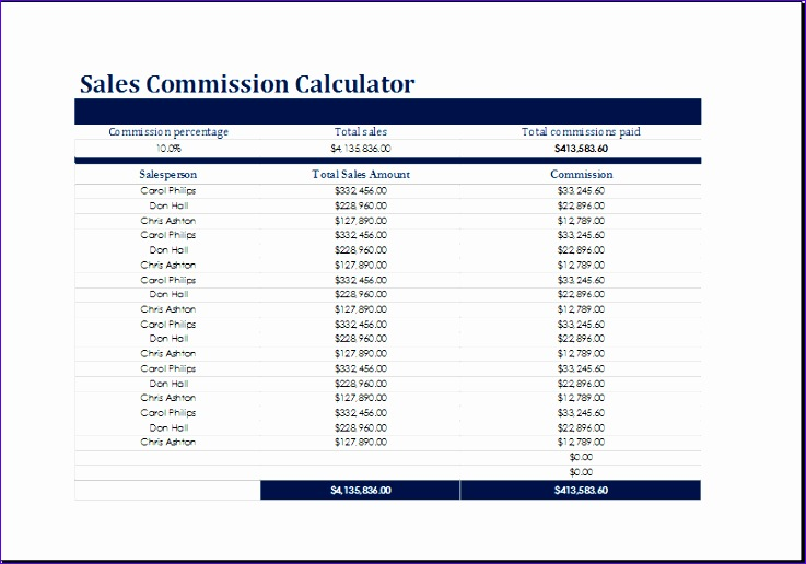 Sales Commission and Costing Calculators Facse New Sales Mission and Costing Calculators Templates